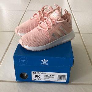 Girls Adidas pink sneakers